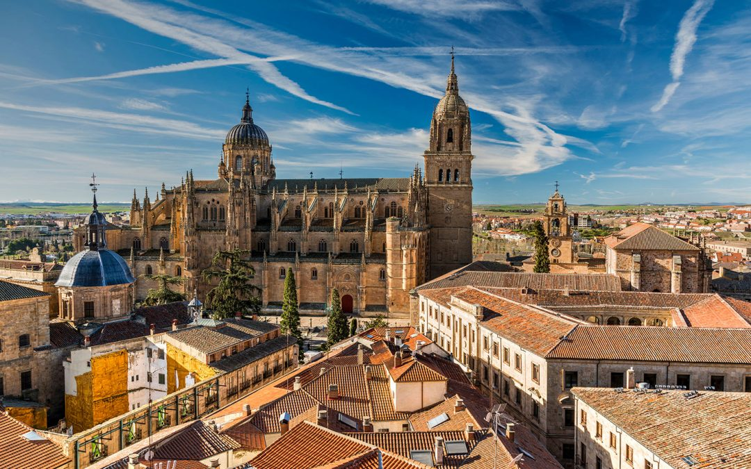 We are now in Salamanca Cathedral, Spain